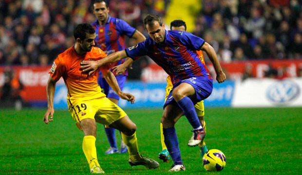 El Levante se lo puso muy difícil al Barça en su campo. Foto: levanteud.com