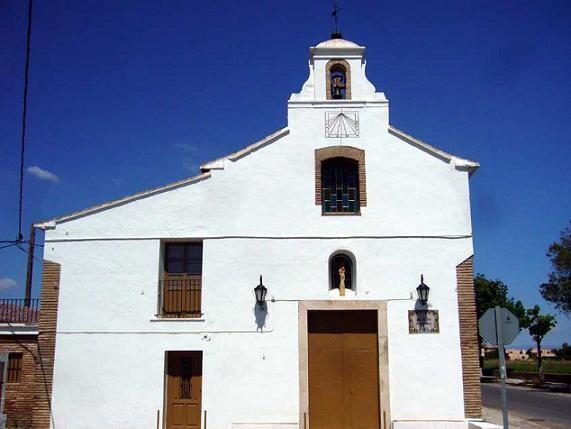 Iglesia de la pedanía de Casas de Barcenas de Valencia donde tienen lugar los cultos/fiestadesancristóbal.es