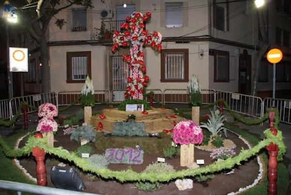 La ornamentación floral de las Fiestas de Patraix que ganó el año pasado/vivelasfallas