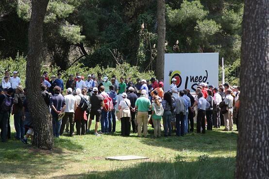 El público sigue muy atento las evoluciones del Open de Golf/Fernando Herranz-RFEG