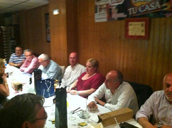 Un momento de la cena que tuvo lugar anoche en La Taberna Casera/LTC