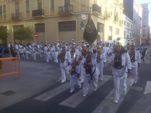La banda del Canyamelar durante el acto del traslado del Medinaceli/vlcciudad