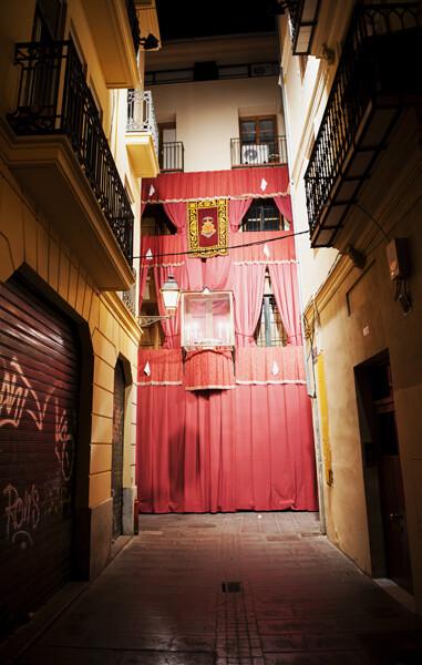 Fachada donde la tradición afirma que tuvo lugar el milagro del Vol del Mocadoret/Isaac Ferrera