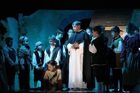El grupo del Altar del Tossal durante la representación/Manuel Gallart