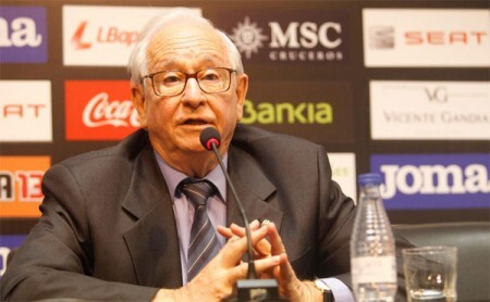 Vicente Andreu, presidente en funciones del Valencia CF hasta julio de 2013. @valenciacf
