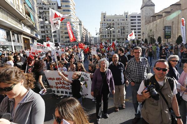 La marcha partió de la plaza de San Agustín/m.molines