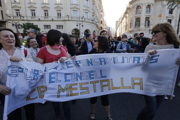 Padres el colegio público Mestalla/m.molines