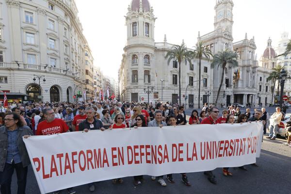 Las universidades también se sumaron a las protestas/m.molines