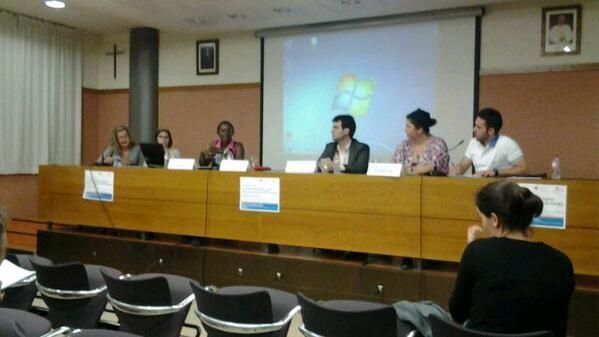 La periodista congoleña Canndy Adzuba en la conferencia que pronunció en la Cardenal Herrera/nm