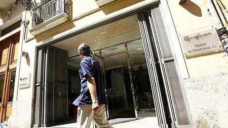 Imagen de las oficinas de Gesfesa en la calle Pizarro donde se han producido los incidentes