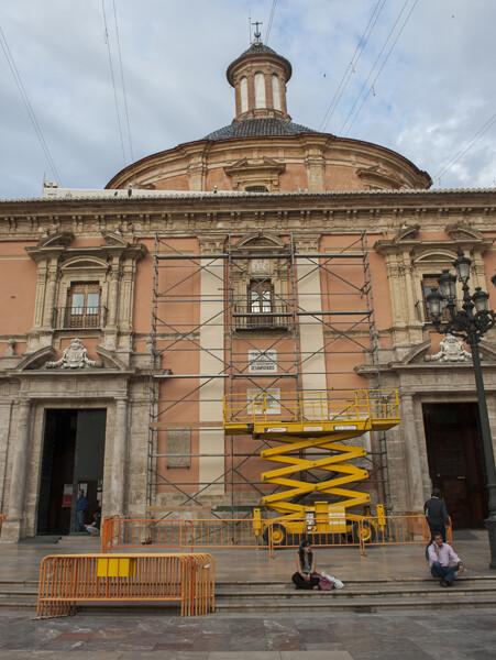 Aspecto de la fachada de la Virgen en la tarde del miércoles/Isaac Ferrera