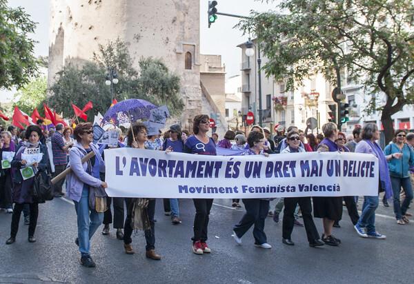 El movimiento feminista también se pronunció a favor del aborto/Isaac Ferrera