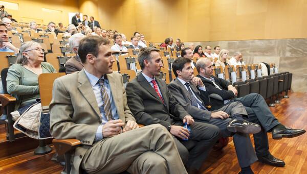Un grupo de asistentes a la presentación del plan estratégico náutico/Isaac Ferrera
