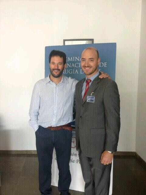 Javier Torralba, a la derecha, con el anterior presidente en el Complejo de La Petxina de Valencia/vlcciudad
