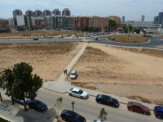 Vista aérea de la zona que sigue sin urbanizar/aaavv san marcelino