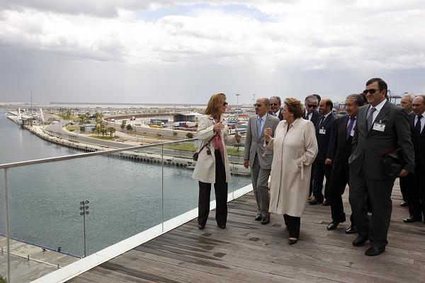 La alcaldesa y los embajadores en el Veles e Vents/ayto vlc