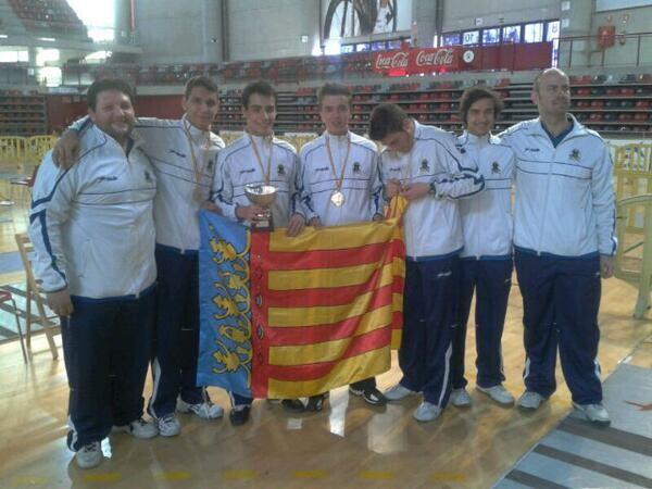 Los componentes del equipo campeón de España Cadete/sav