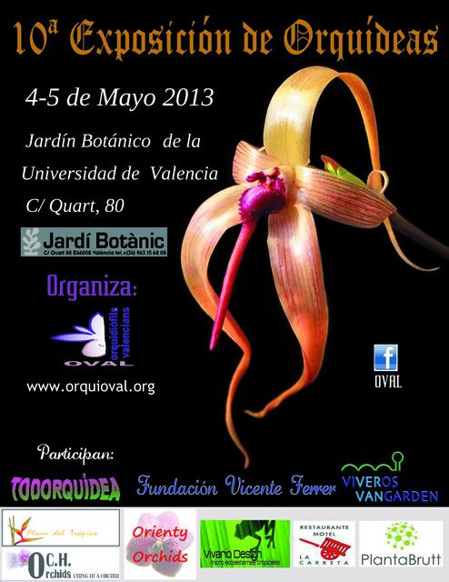 Cartel de la exposición de orquídeas
