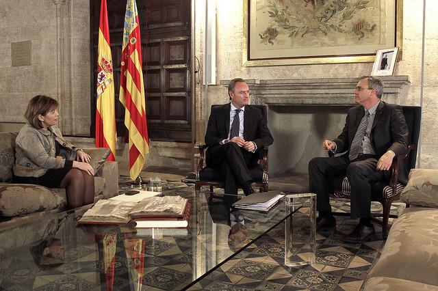 El presidente Fabra con el subdirector de la FAO en una audiencia que tuvo lugar el pasado mes de febrero/gva