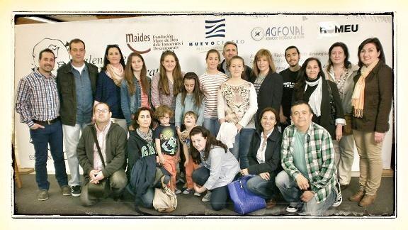La falla Santa María Micaela acudió a participar al acto como siempre ha hecho con la fundación Maides/estic en els desamparats