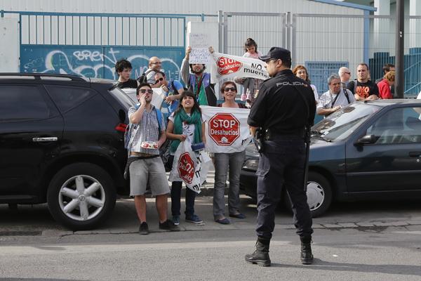 El grupo de manifestantes al inicio de las protestas/m.molines
