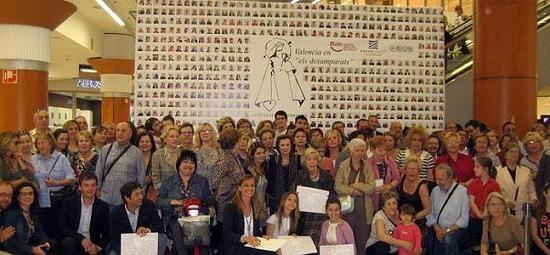 Acto solidario de Maides en el Nuevo Centro. Foto de archivo.