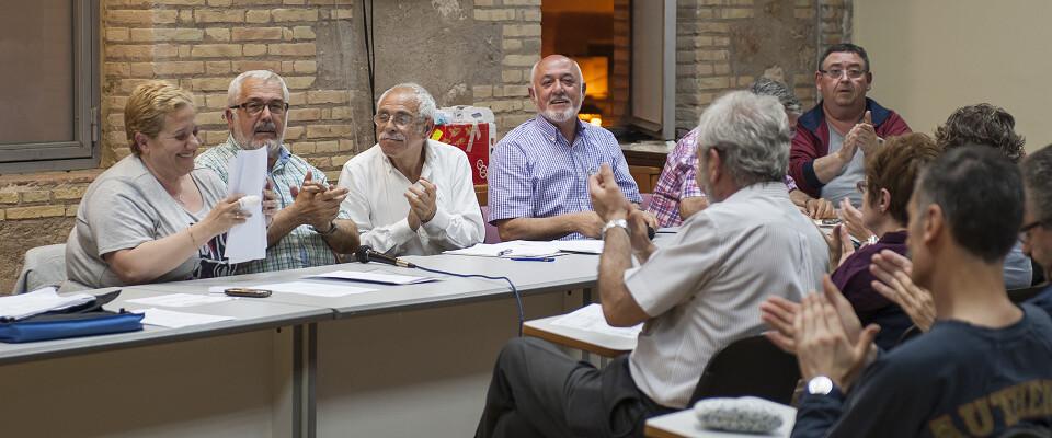 La junta mayor celebró la última asamblea que fue la despedida de Begoña Sorolla como presidenta/Isaac Ferrera