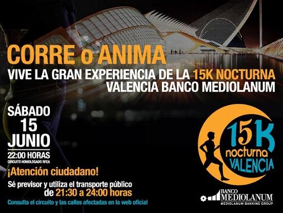 Cartel oficial de la carrera que se celebra está noche por las calles de Valencia