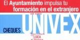 Cartel sobre los cheques Univex