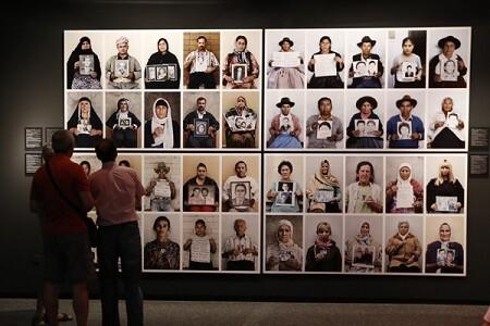 Beneficencia, Exposicion de Gervasio Sanchez, Desaparecidos