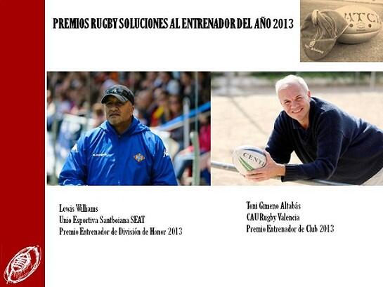 A la derecha, el entrenador del CAU Rugby Valencia/cau