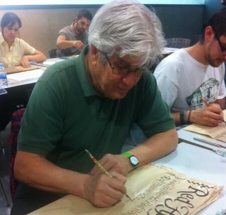 Rousselot en el workshop. F- Modesto Granados.