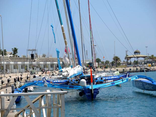 El 'Virbac Paprec' en la Marina Real Juan Carlos I