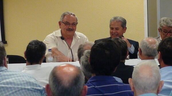 El presidente de la federación durante la asamblea en la sede de la avenida Barón de Cárcer de Valencia/fvcv
