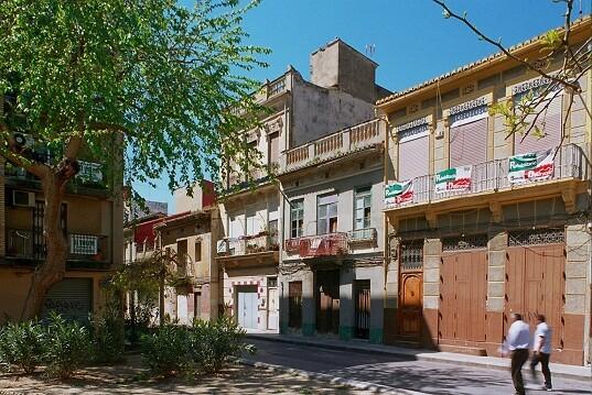 Una calle del barrio del Cabanyal/vlc