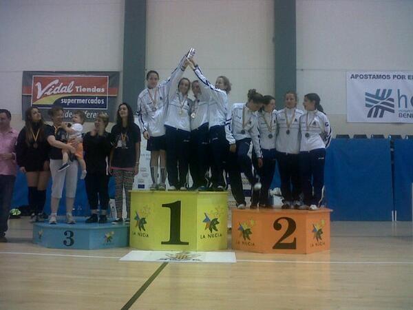 El equipo de la Sala d`Armes València que gano en la modalidad femenina por equipos/sav