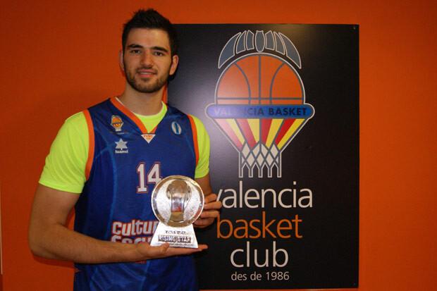 Dubljevic, posando con el trofeo Risign Star de la EuroCup