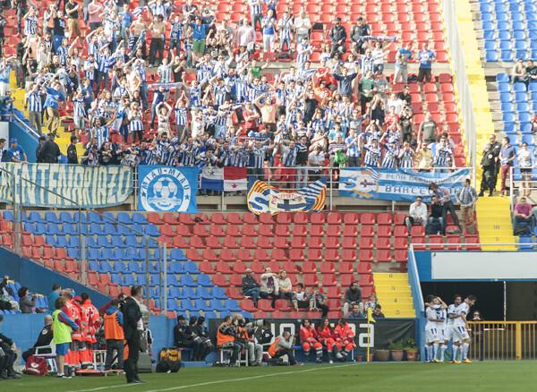 Juan Ignacio Martínez en el encuentro con el Deportivo donde se perdió 0-4/Isaac Ferrera