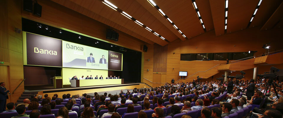 Junta General de Accionistas de Bankia celebrada en el Palau de Congresos. Foto: Bankia