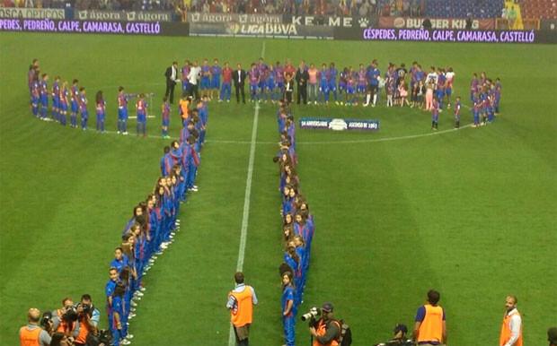 El Levante UD homenajeó al equipo que ascendió a Primera hace 50 años. Foto: Levante UD