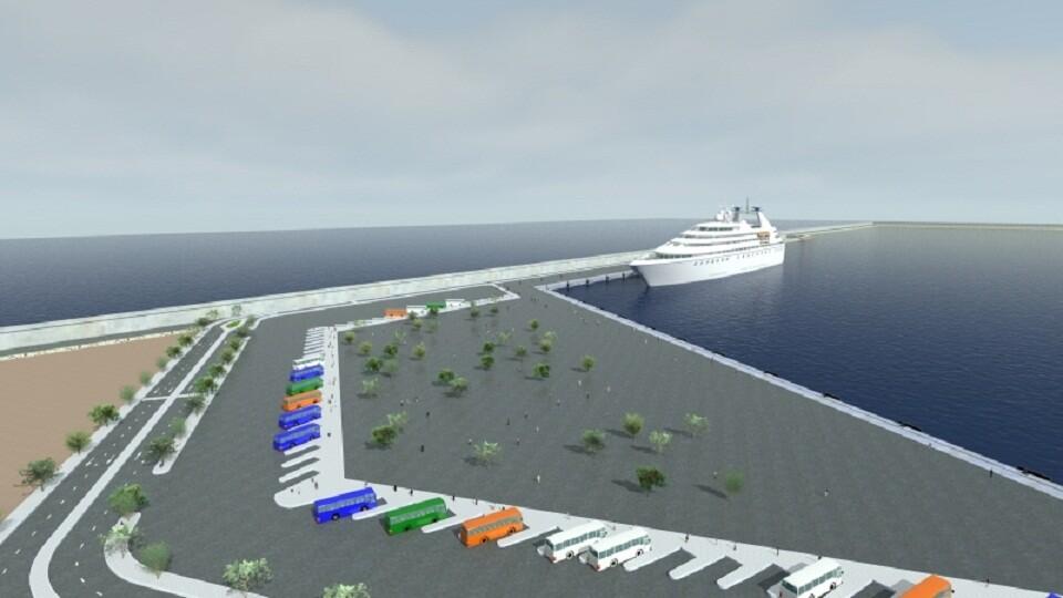Figuración de como quedará la nueva zona de cruceros/cyes