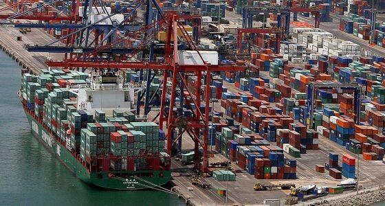 Zona de la terminal de contenedores del puerto de Valencia.