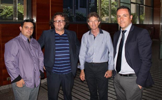 Rafael Blanquer, con Manuel Furió y José Antonio Garzón, de VLC Ciudad, y Carlos García Pamblanco, director de marketing del Hotel ABBA Acteón, patrocinador de esta sección.