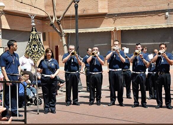 La banda de Sant Lluis Bertrán en su última participación en el certamen de los Granaderos del Grao del pasado domingo/Rafael Montesinos