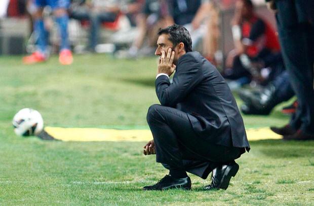 Valverde declaró, tras el partido, que siente no haber dejado al equipo en la Champions. Foto: Valencia CF