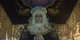 La Dolorosa del Grao colocado en su trono y con el palio que estrenará el sábado 8 de junio/granaderos grao