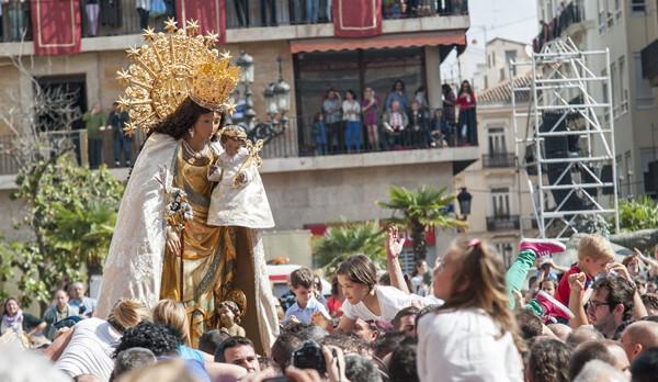 La imagen Peregrina en el Traslado del día de su festividad el pasado 12 de mayo/Isaac Ferrera