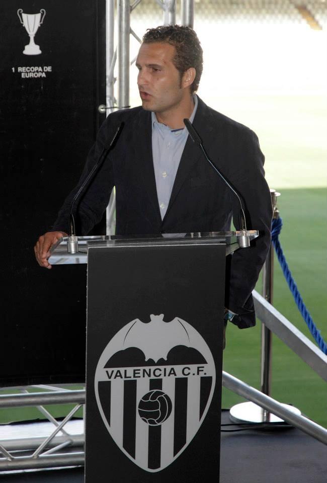 Rubén Baraja, de nuevo en casa, recuerda su llegada. Foto: Valenciacf.com