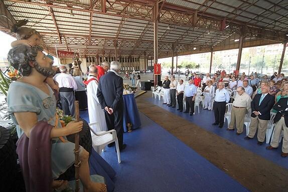 Un momento de la misa de campaña en el Tinglado II del Puerto/archivalencia