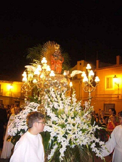 La imagen de Santa Ana de la pedanía de Borbotó en la procesión de septiembre